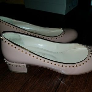 Christian Louboutin studded Nude shoes size 39/9